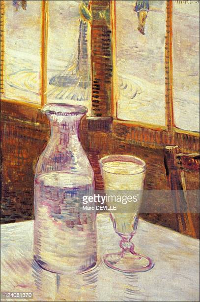 Objects inspired from work of Van Gogh In Auvers Sur Oise France On February 23 1995 Still Life with Absinthe Oil on canvas 465 x 330 cm Paris Spring...