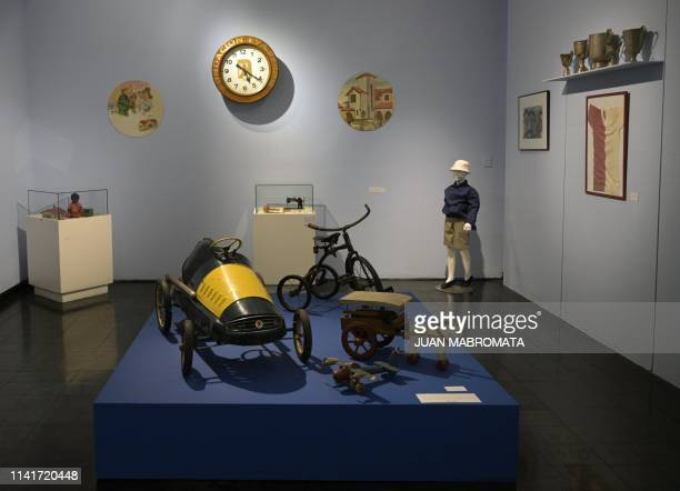 Objects of the Childhood and Peronism the toys of the Eva Peron Foundation exhibit are displayed at the Evita Museum in Buenos Aires on May 6 2019...