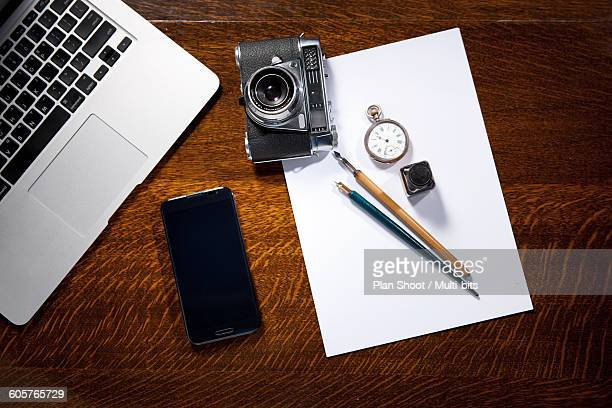 Objects on the desk