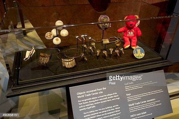 Objects recovered from the World Trade Center site are displayed during a press preview of the National September 11 Memorial Museum at ground zero...