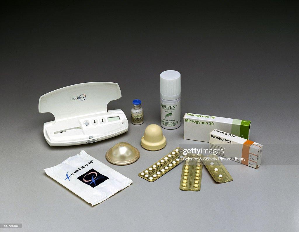 Female contraceptives, 2000. : News Photo