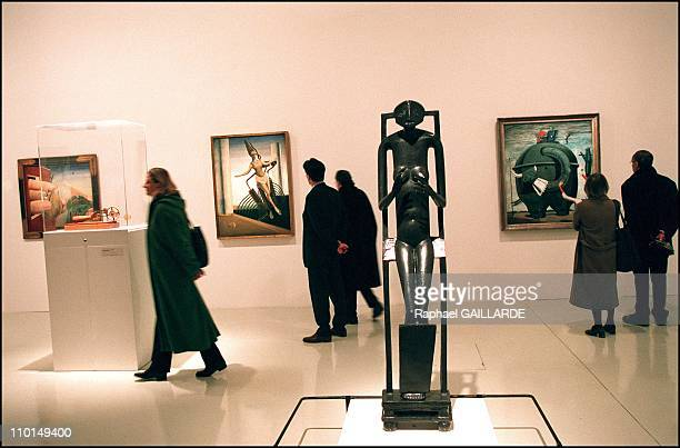 L'objet invisible' by Alberto Giacometti in 'La Revolution Surrealiste' at Georges Pompidou center in Paris France on March 2002