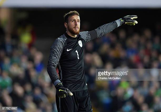 Oblak Jan of Slovenia during the international friendly between Northern Ireland and Slovenia at Windsor Park on March 28 2016 in Belfast Northern...