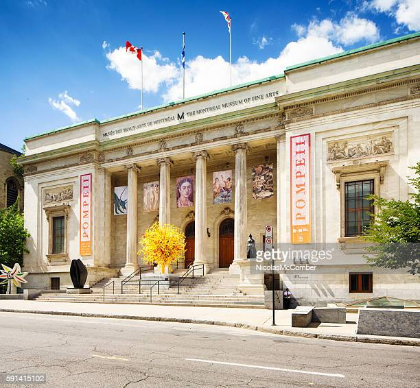 Oblique view of the Montreal museum of fine arts