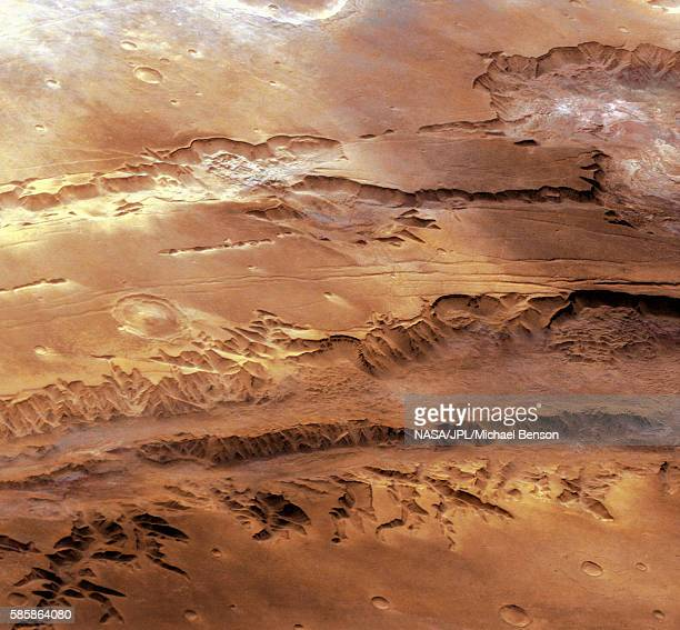 Oblique View of the Valles Marineris Canyon on Mars