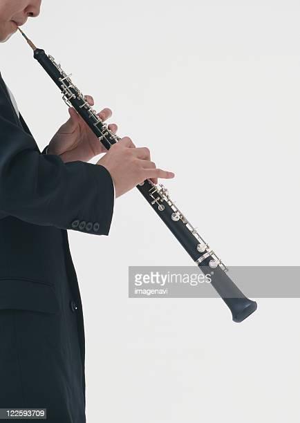 oboe performance - oboe stock-fotos und bilder