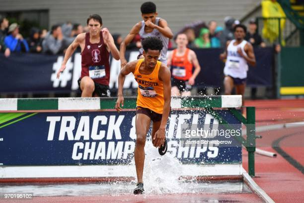 Obsa Ali of the Minnesota Gophers races to a victory in the 3000 meter steeplechase during the Division I Men's Outdoor Track & Field Championship...