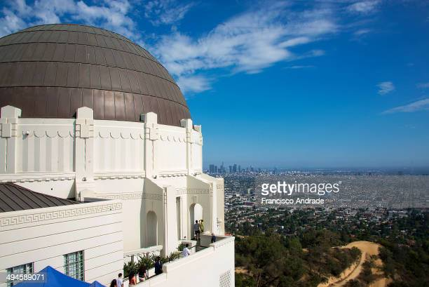 CONTENT] Observation level of the Griffith Observatory construction of Art Deco design View of Los Angeles