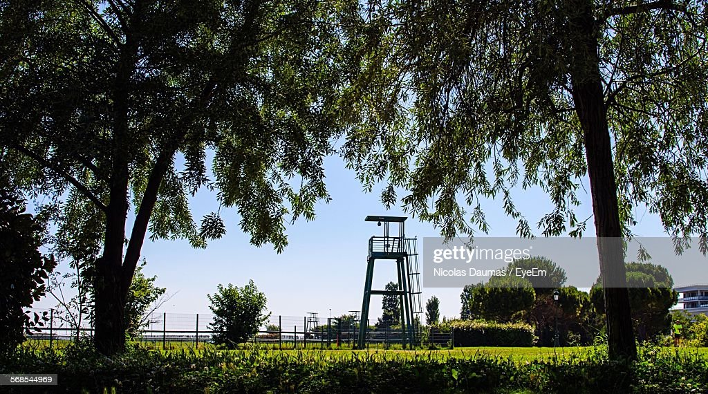 Observation Point And Trees In Borely Park : Stock Photo
