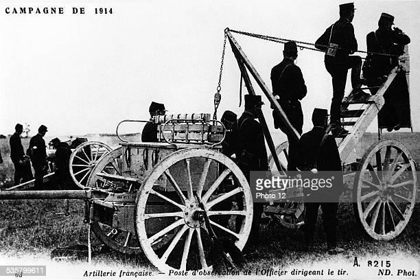 Observation post ok French artillery 19141918