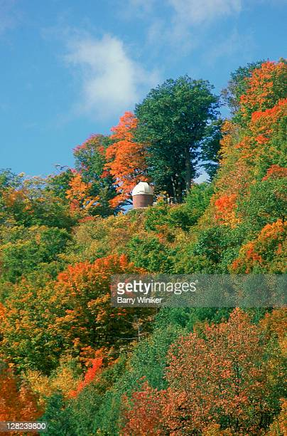 Observatory at Hildene w/ fall leaves, Manchester, VT