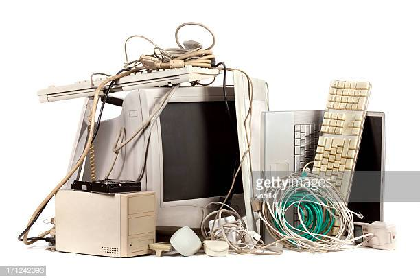 obsolete electronics - heap stock pictures, royalty-free photos & images