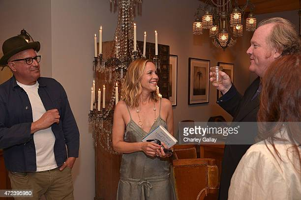 Obsolete owner Ray Azoulay actressauthor Maria Bello and manager John Carrabino attend the party for Maria Bello's book WhateverLove is Love at...