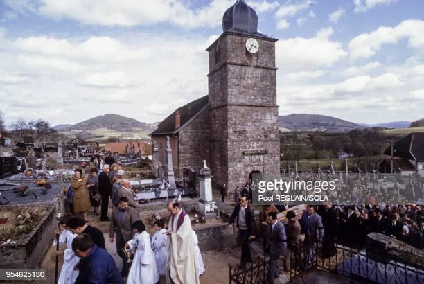 Obsèques de Bernard Laroche le 2 avril 1985 à Jussarupt France