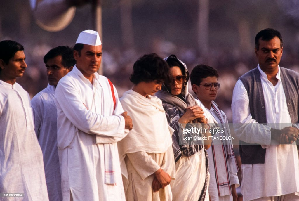 Obsèques d'Indira Gandhi : News Photo