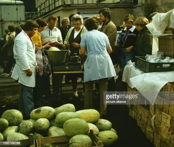 Obst und Gemüseverkauf auf dem Dittersbacher Jahrmarkt einer der größten BauernJahrmärkte im Bezirk Dresden aufgenommen am Der Markt findet Ende...