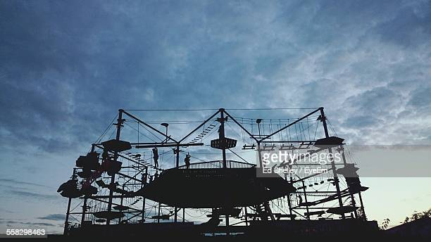 obstacle course against sky - obstacle course stock pictures, royalty-free photos & images