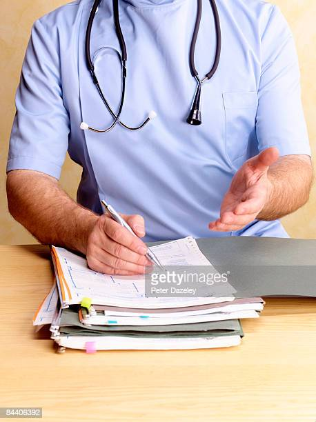 Obstetrician consulting