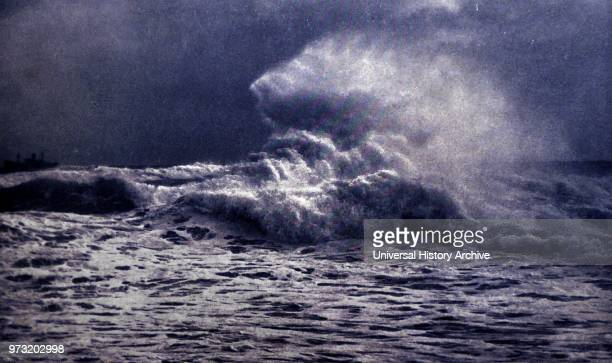 Obstruction Wave off Heligoland Germany approx 1920 by Franz Schensky