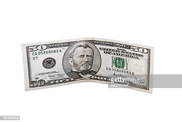 Obverse of Fifty Dollar Bill, Ulysses Grant, isolated on white