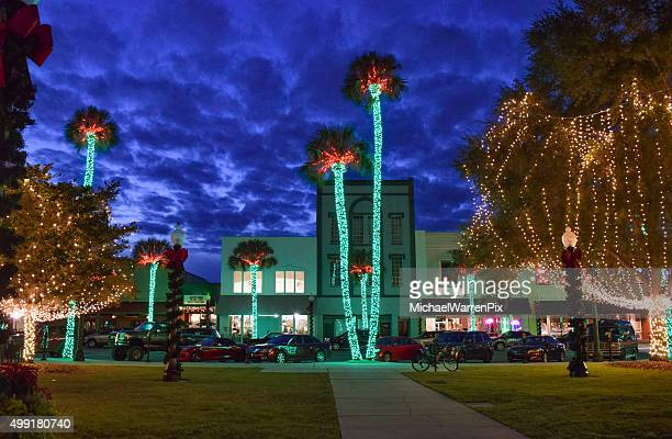 ocala, florida - christmas lights - florida christmas stock pictures, royalty-free photos & images