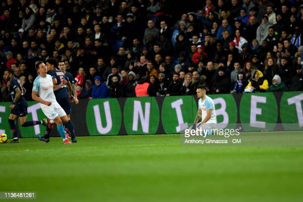 Ocampos during the Ligue 1 match between Paris Saint Germain and Olympique de Marseille at Parc des Princes on March 17 2019 in Paris France