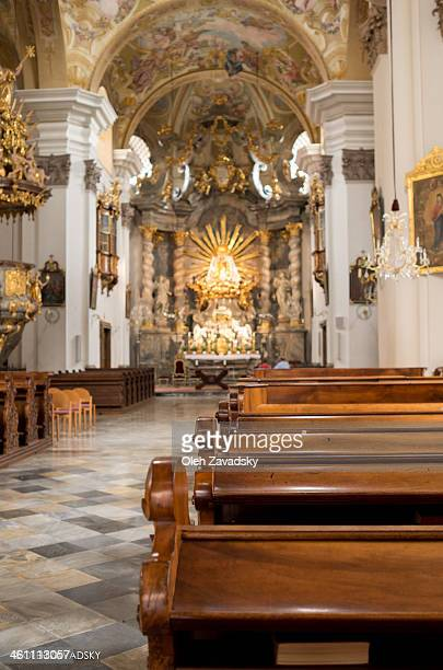 Occasionally stepped into a church that attracted my eyes with tremendous size and position on the hill. Impressive baroque furniture and paintings...