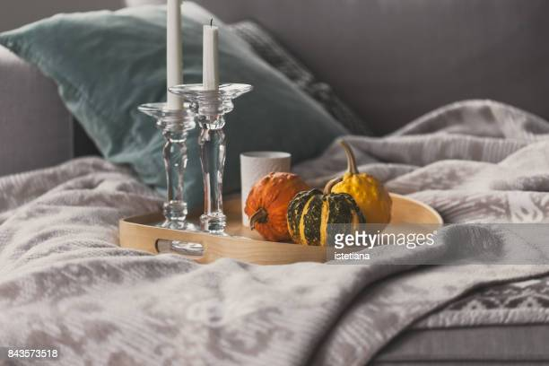 Occasions. Autumn cozy home decorations