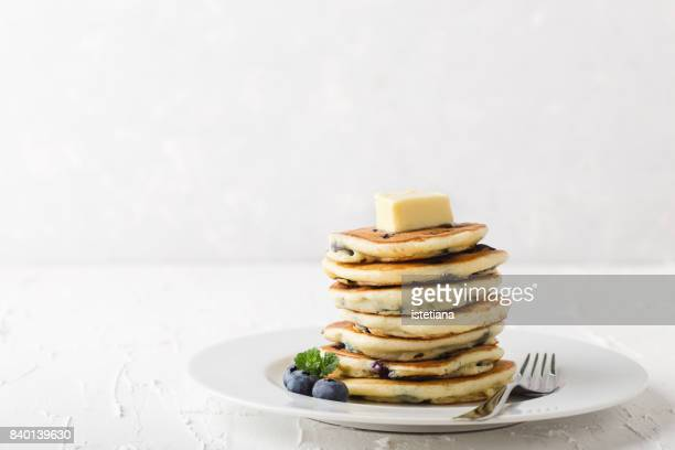 occasions. blueberry pancakes - pancake stock pictures, royalty-free photos & images