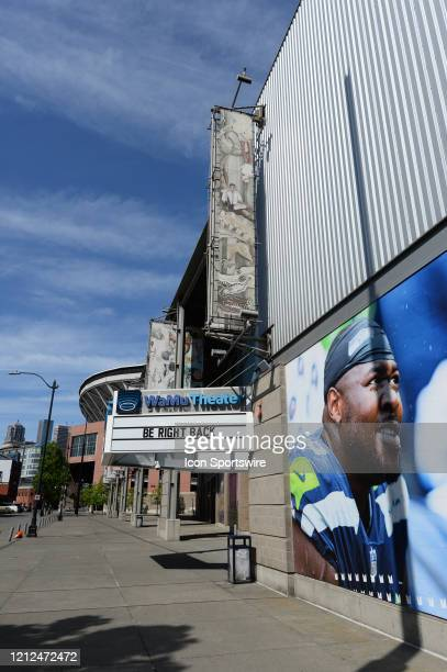 Occidental Avenue is quiet outside of Century Link Field and WaMu event center during the stay at home order by Governor Inslee due to the...