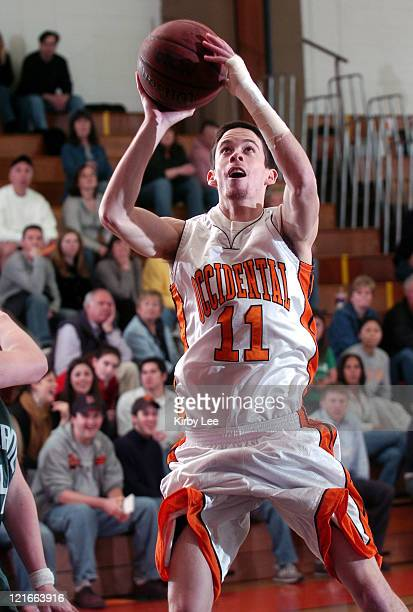 Occidental College freshman guard Connor Whitman during an 8169 victory in SCIAC men's basketball game at Rush Gymnasium in Eagle Rock Calif on Jan...