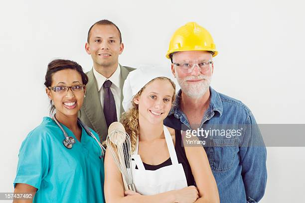 Occupation Group, Variety of Multi-Ethnic Diversity Workers and Professions