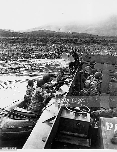 Occupation of Kiska Aleutian Islands by US and Canadian troops August 1516 1943 | Location Kiska Island Aleutian Islands Alaska USA