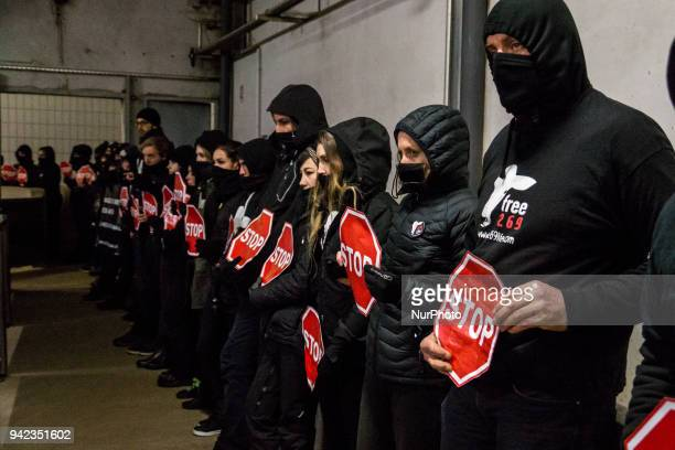 Occupation of the Lapalisse slaughterhouse France on January 19 by the association 269 Life Libération Animale About 40 activists demonstrated inside...
