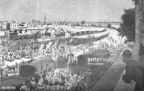 Occupation of Zagazig after the Battle of TelElKebir' circa 1882 Episode of the AngloEgyptian War From British Battles on Land and Sea Vol IV by...