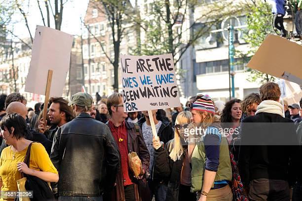 Occupy Amsterdam gathering at Beursplein