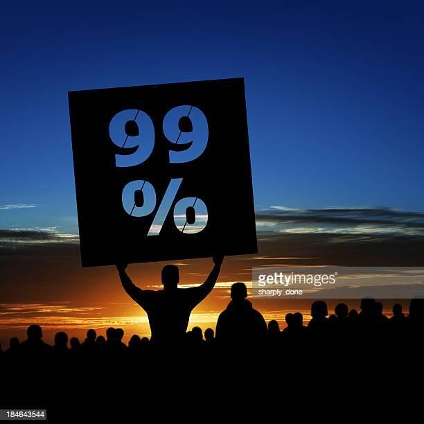 XXXL occupy movement protestors