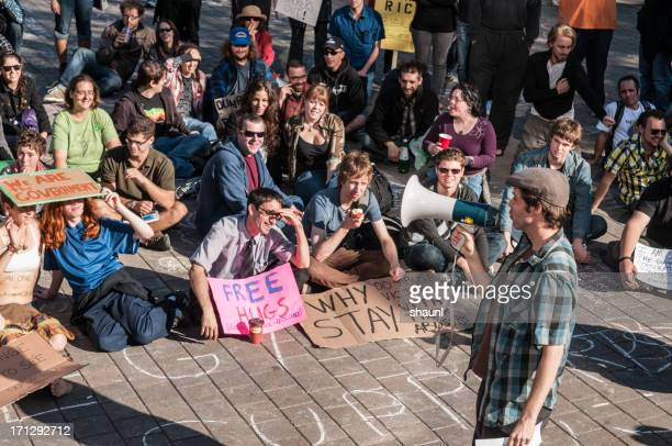 occupy nova scotia protest - occupy wall street stock pictures, royalty-free photos & images