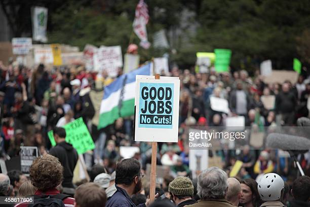 occupy portland pioneer square. - pioneer square portland stock photos and pictures