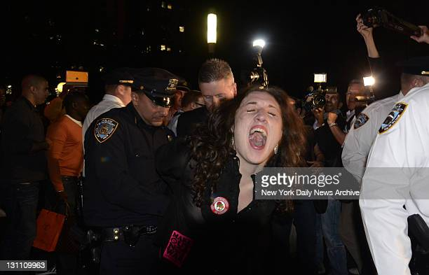 Anticapitalist protesters demonstrate against Wall Street corporate greed Protesters were arrested as they tried to storm Wall Street