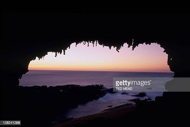 ocean at dusk from admirals arch, kangaroo island, sa, australia
