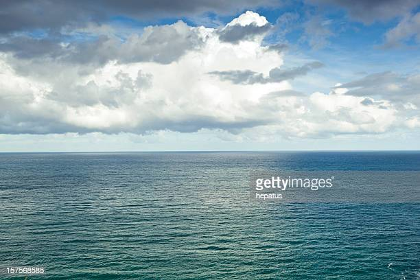 océan background - horizon over water stock photos and pictures