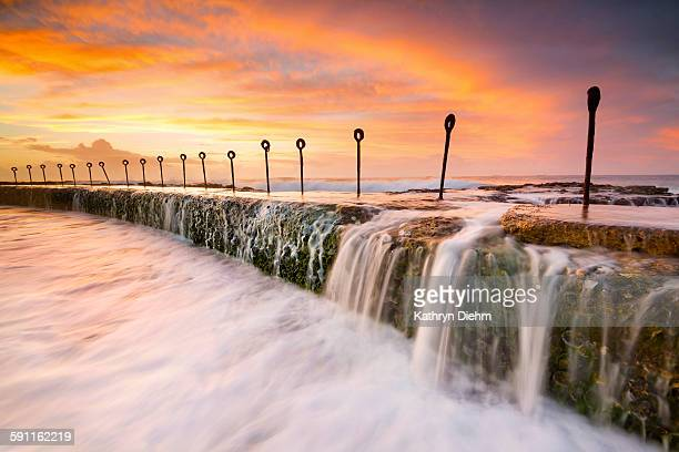 Ocean baths sunrise seascape