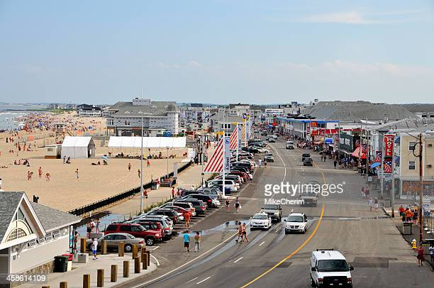 ocean blvd., hampton beach nh (day) - new hampshire stock pictures, royalty-free photos & images