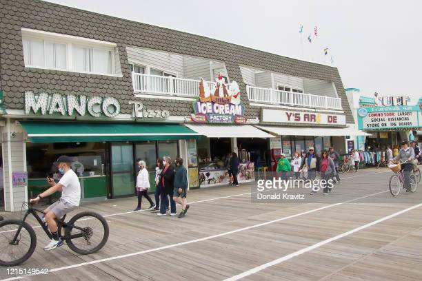 Ocean City continues celebrating Memorial Day weekend with many businesses open for take out on the Boardwalk on May 25, 2020 in Ocean City, New...