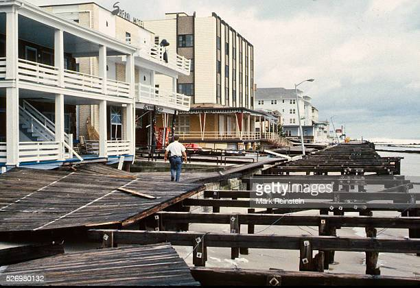 Ocean City Maryland 9281985 Hurricane Gloria comes ashore in Ocean City Maryland The center of Gloria passed about 30 miles offshore eastern Maryland...