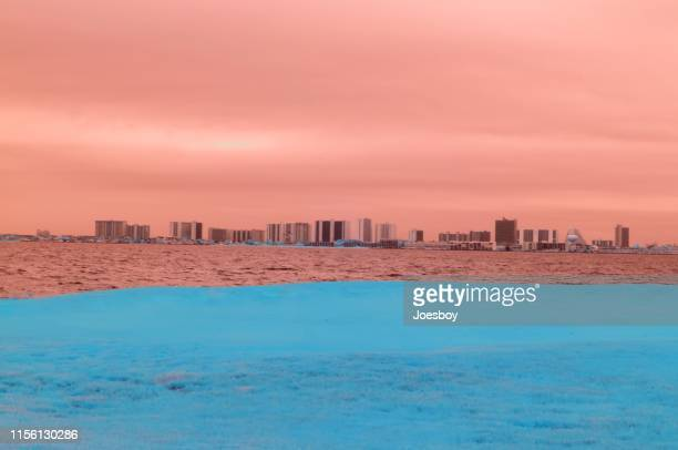 ocean city skyline ir - iii - ocean city maryland stock pictures, royalty-free photos & images