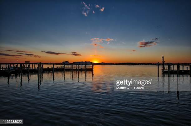 ocean city sunset - メリーランド州 ストックフォトと画像