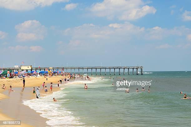 Ocean City Swimmers In Summer