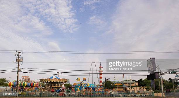 A general view shows an amusement park in Ocean City Maryland 08 June 2006 Many hotels and restaurants in the city typically employ students from...